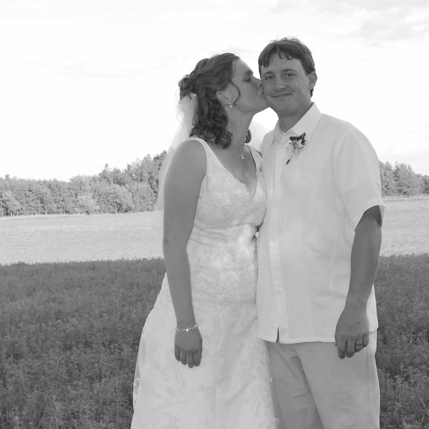 wedding photo at farm